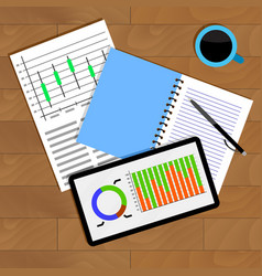 analysis of statistical data vector image vector image