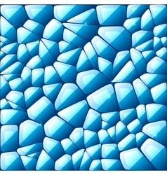 Blue abstract stained glass mosaic background vector image vector image