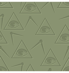 Eye in triangle background vector image