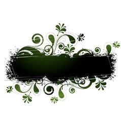 green floral design vector image vector image