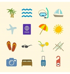 Set of holidays icons contrast color vector image