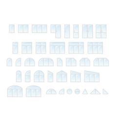big set of different types windows and door vector image