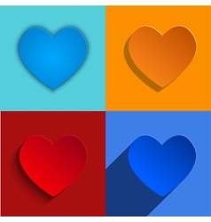 modern hearts icons set vector image