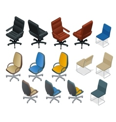 Office chair isolated on white background Chair vector image vector image