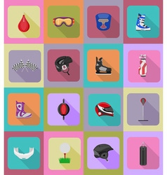 sport flat icons 40 vector image vector image