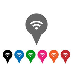 Wi-Fi pointers vector image
