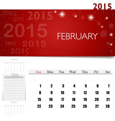 2015 calendar monthly calendar template for vector image