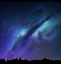 A milky way night sky eps vector