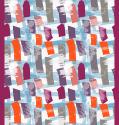 Abstract orange and purple marker vertical vector