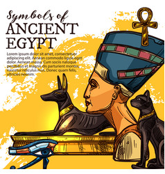 Ancient egypt culture and religion vector
