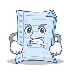 Angry notebook character cartoon design vector