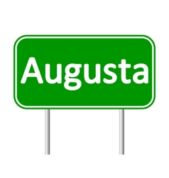 Augusta green road sign vector