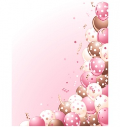 Balloons on a pink background vector
