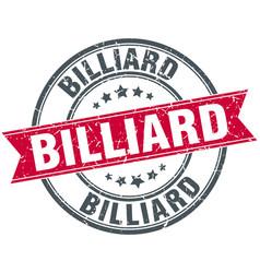 billiard round grunge ribbon stamp vector image vector image