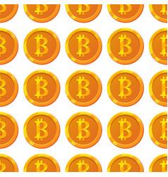 bitcoin pattern vector image