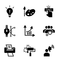 Brand work icon set simple style vector
