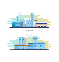 buildings of an industrial and chemical plants vector image