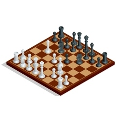 Chess board chess game Chess on chessboard vector