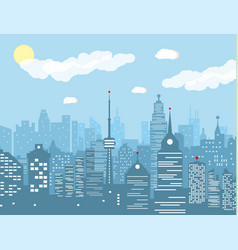 city skyline at day vector image