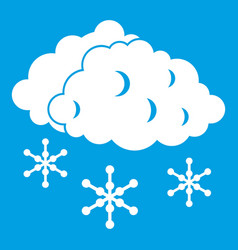Clouds and snow icon white vector