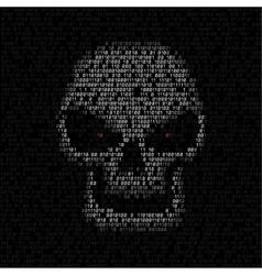 Code texture skull vector
