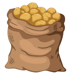 Collection potato cartoon on the sack vector