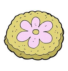 comic cartoon baked biscuit vector image
