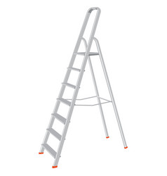 Construction ladder isolated on a white background vector