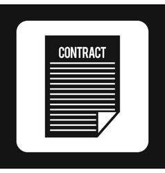 Contract icon simple style vector image