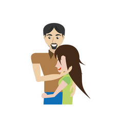 Couple romantic caressing image vector
