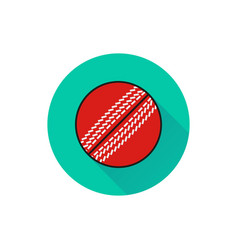 cricket ball icon on white background vector image