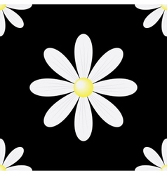 daisy seamless background vector image