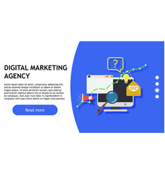 digital marketing agency creative design business vector image
