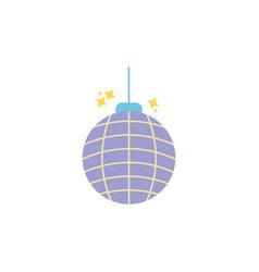 disco ball celebration party flat icon design vector image