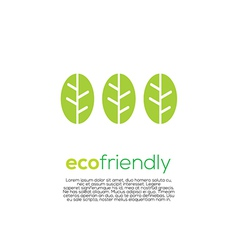 Eco-Friendly Concept vector