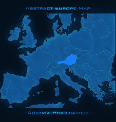 europe abstract map austria vector image