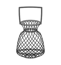 Fishing net icon in outline style isolated on vector image