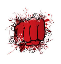 Fist with floral vector