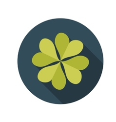 Flat Design Concept Clover With Long Shadow vector