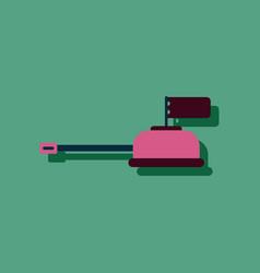 Flat icon design collection tank main gun vector