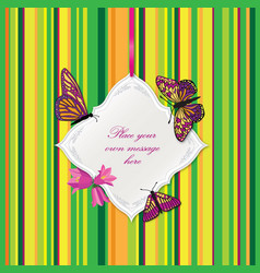 flower frame greeting card border decor floral vector image