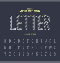 font and alphabet line letter typeface vector image