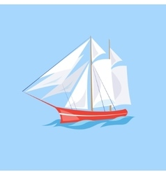 Frigate Ship on the Water vector