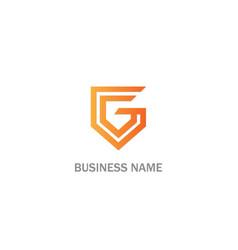 g line sign logo vector image