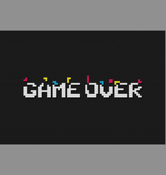 game over retro video game vector image