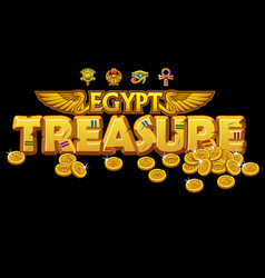 golden inscription treasures egyptian culture vector image