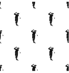golfer after kick icon in black style isolated on vector image