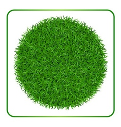 Green grass background Circle 1 vector
