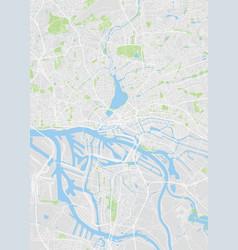 Hamburg colored map vector