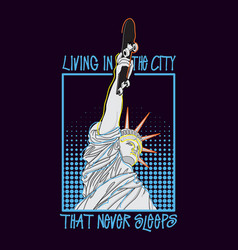 Hand drawn statue of liberty vector